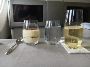 Turkish Airlines Business Class Dessert
