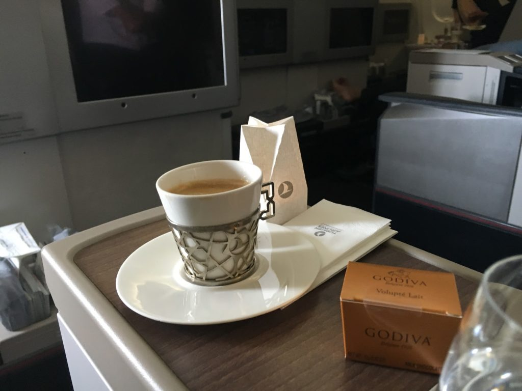 Turkish Airlines Business Class Espresso
