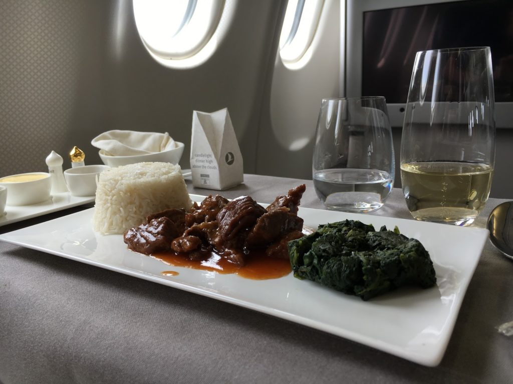 Turkish Airlines Business Class Lunch