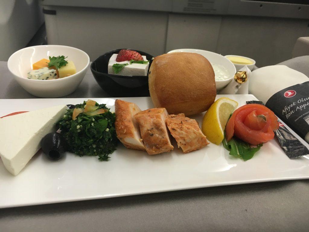Turkish Airlines Business Class Vorspeisenplatte