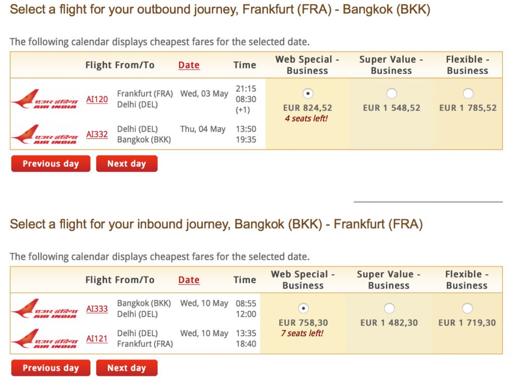 Miles & More Statusmeilen mit Air India sammeln