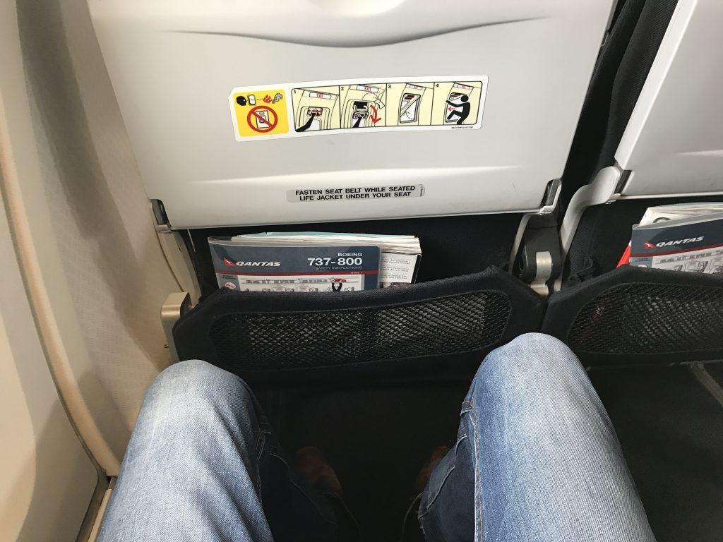 Qantas Economy Class Sitzabstand