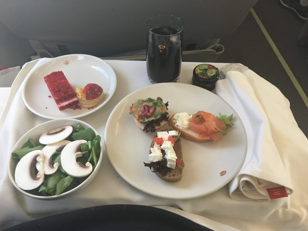 Royal Jordanian Business Class Catering