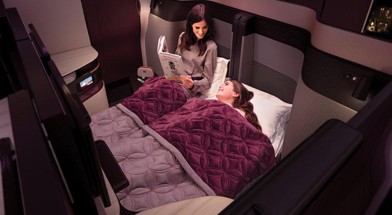Qatar Airways QSuite Doppelbett