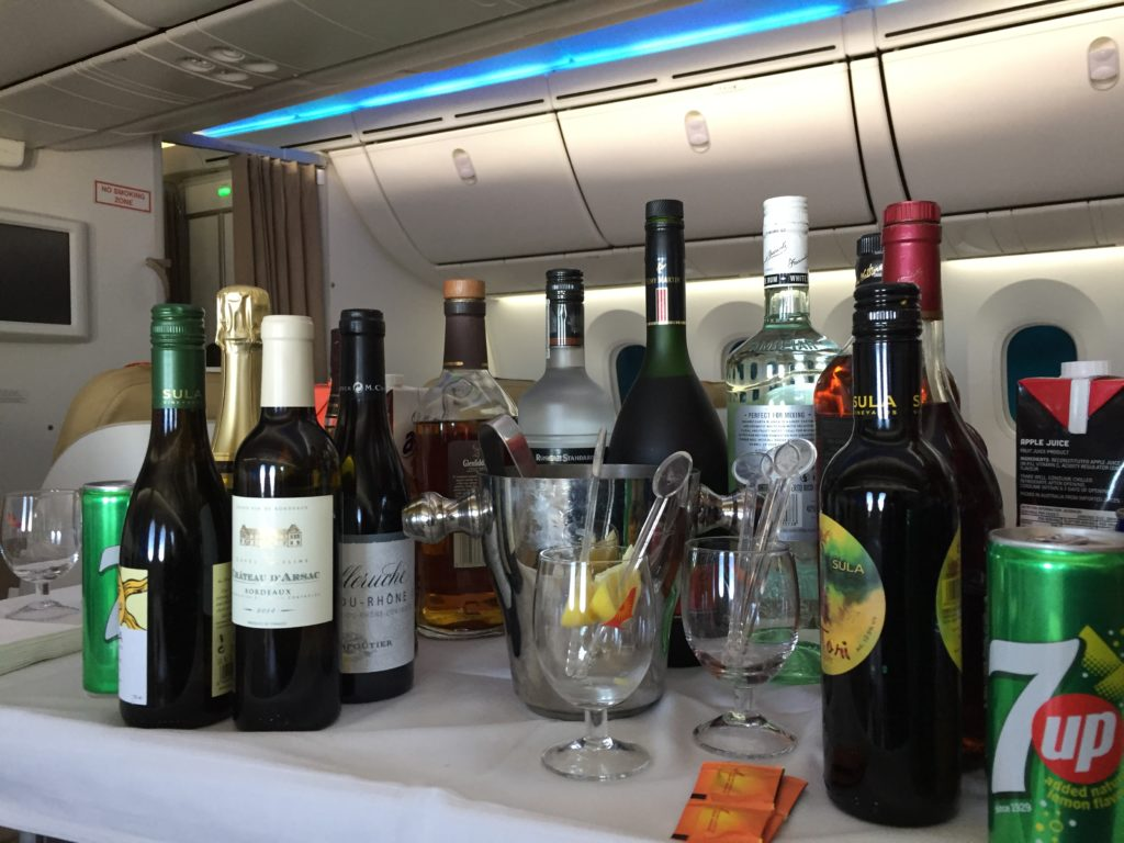 Air India Business Class Getränke
