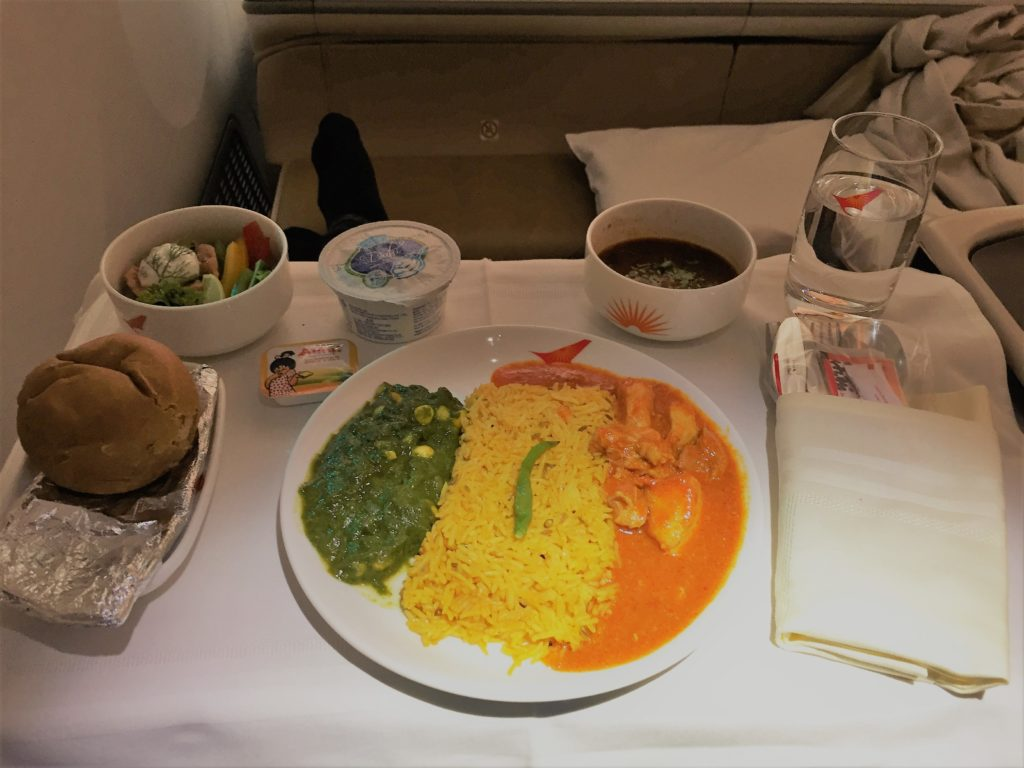Air India Business Class Catering