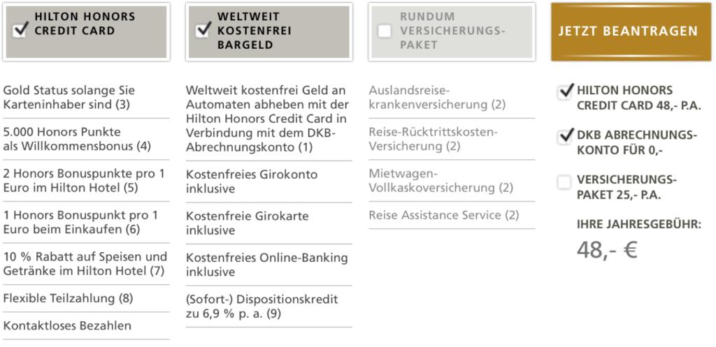 Hilton Gold Status mit der Hilton Honors Kreditkarte erhalten