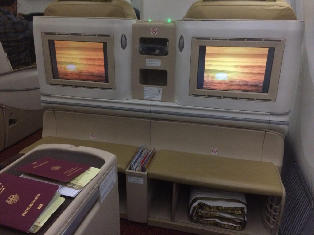 Air India Business Class Entertainment