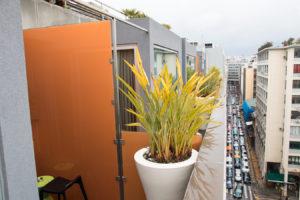 Fresh Hotel Athens Blick vom Balkon