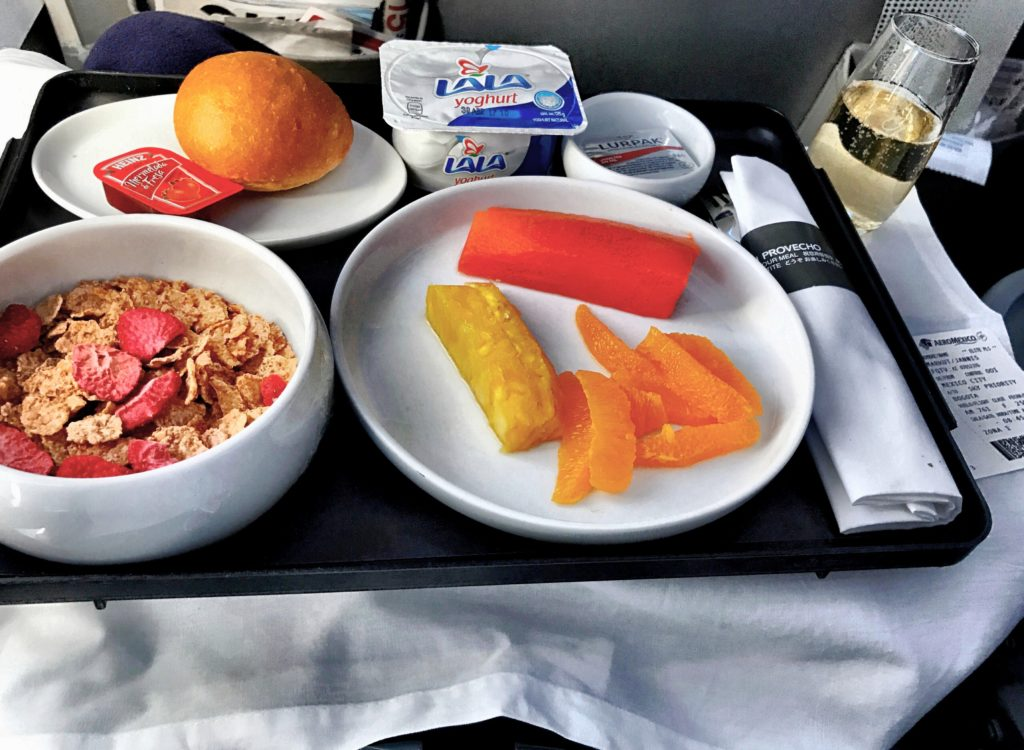 Aeromexico Business Class Catering