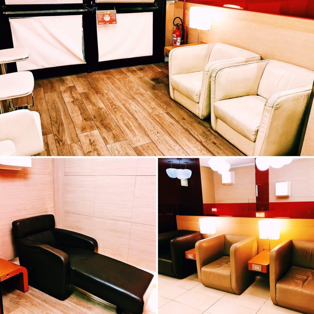 Casa Alitalia Lounge Rom Terminal 3 Sitze