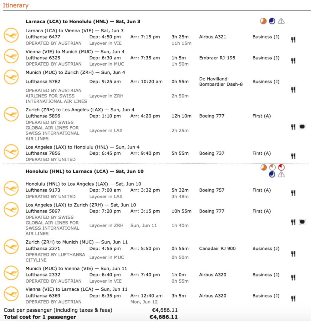 Lufthansa Miles & More Statusmeilen in der First Class sammeln