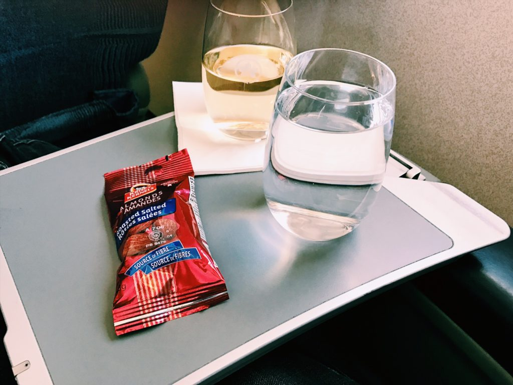 Air Canada Express Business Class Aperitif