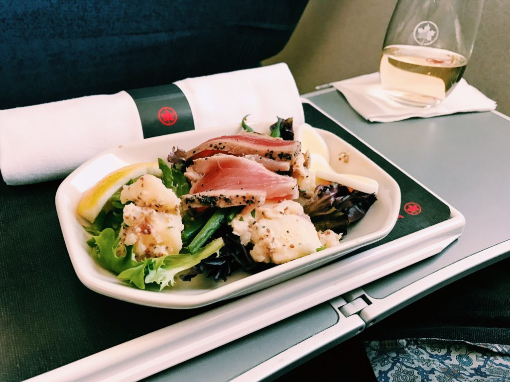 Air Canada Express Business Class Lunch