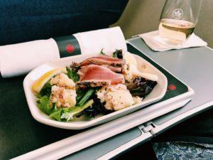 Air Canada Express Business Class Lunch