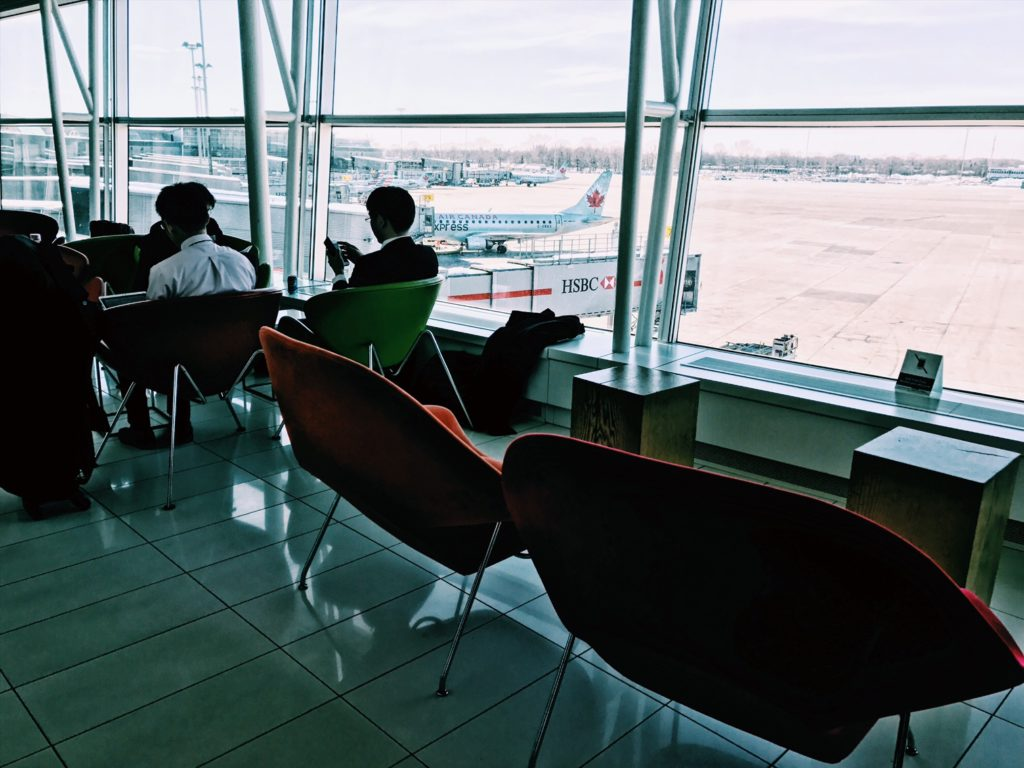 Air Canada Maple Leaf Lounge Montreal Transborder