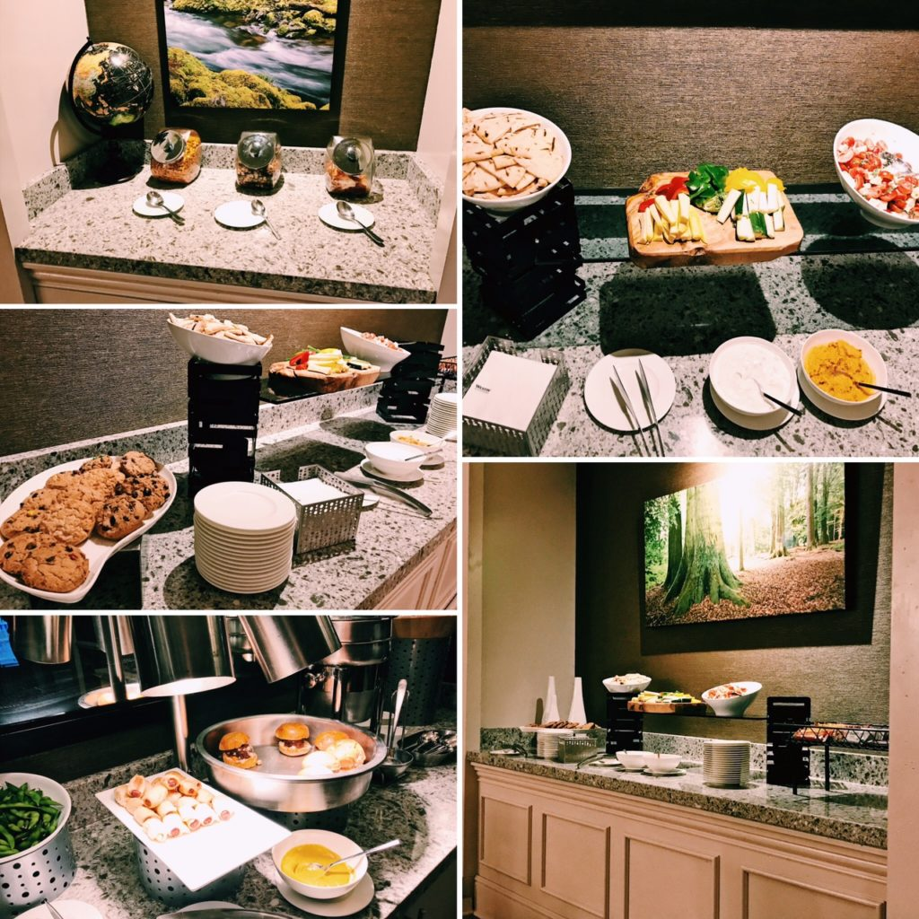 The Westin Chicago River North Executive Lounge Dinner