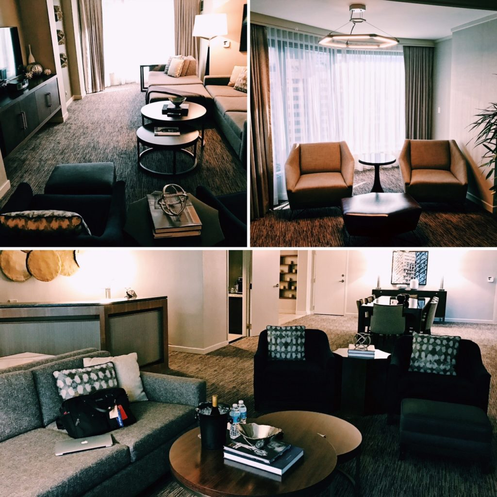 The Westin Chicago River North Presidential Suite Wohnzimmer