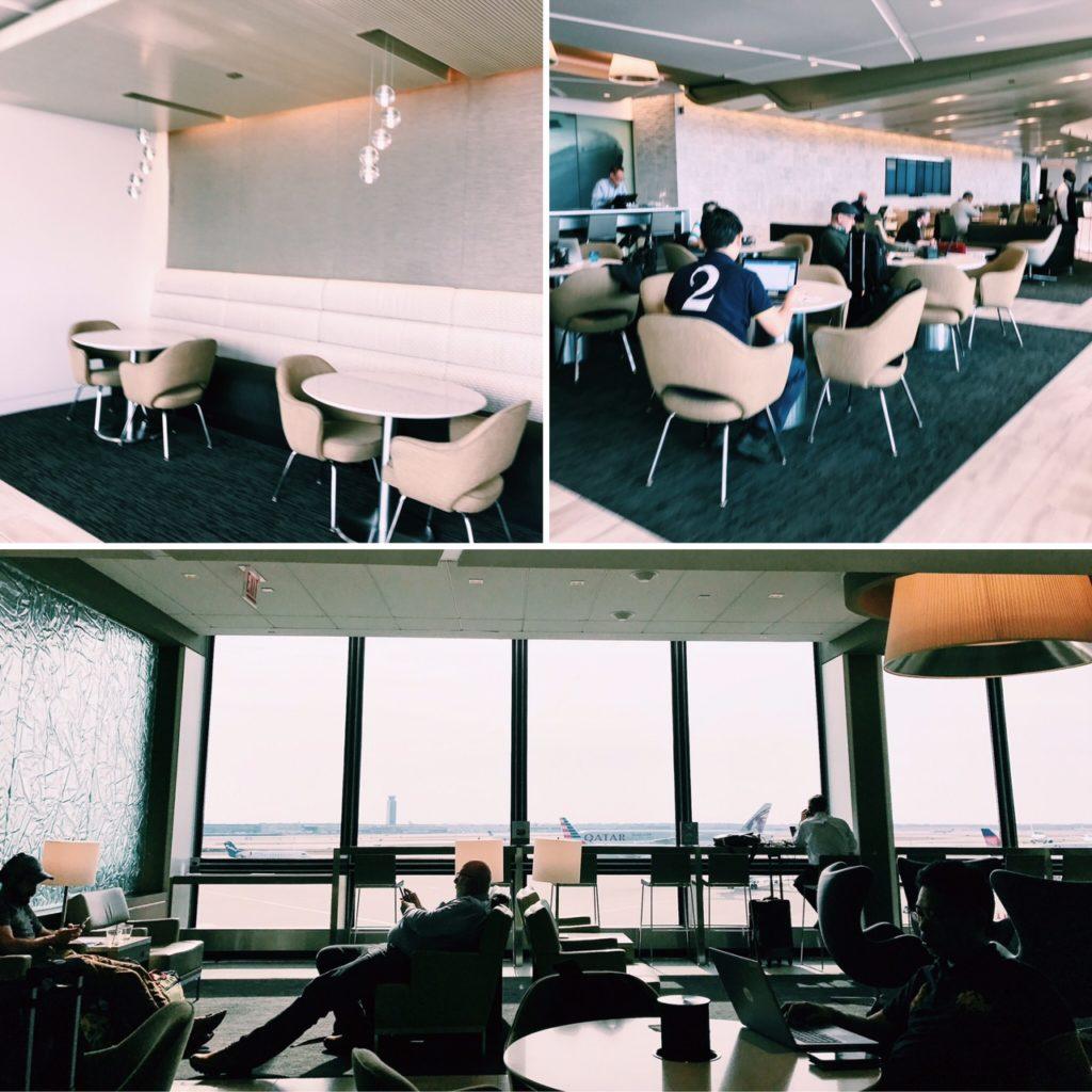 United Club Chicago O'Hare Terminal 2 Sitzmöglichkeiten