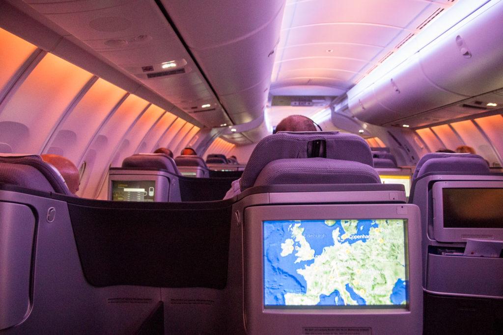Lufthansa Business Class Boeing 747-8 nach Johannesburg