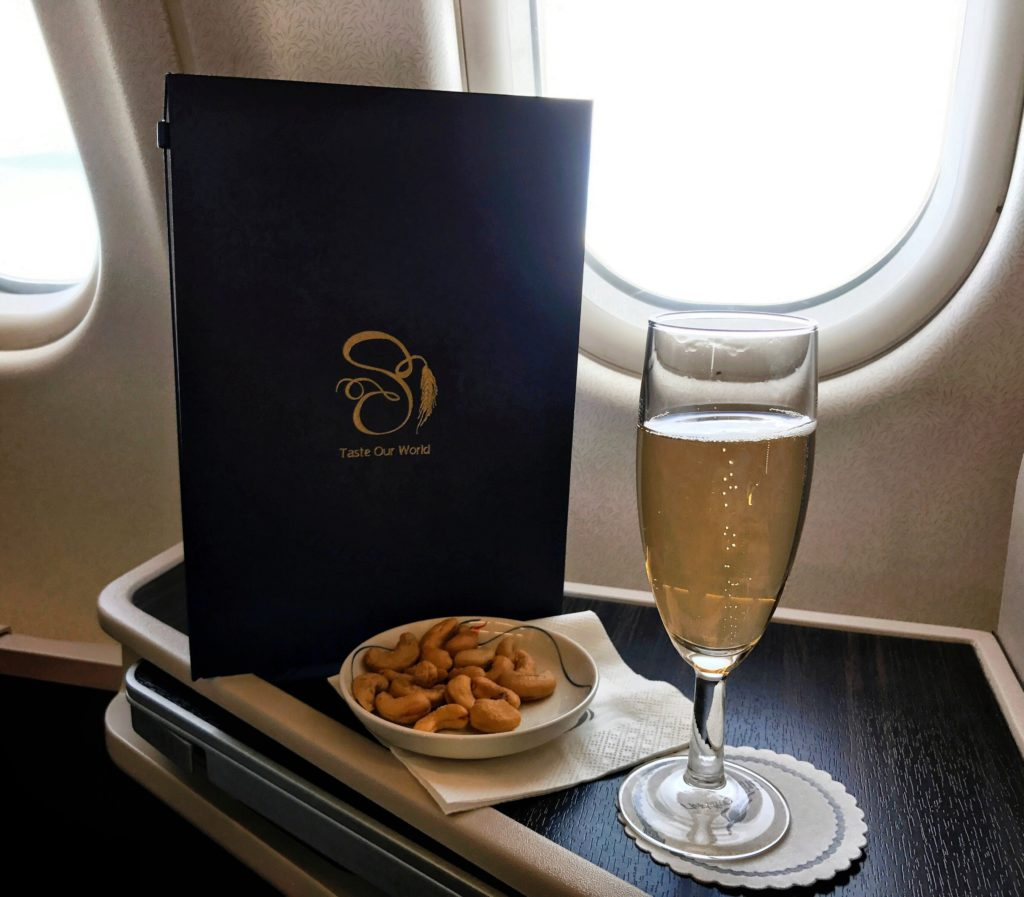 SriLankan Airlines Business Class A330 Welcome Drink