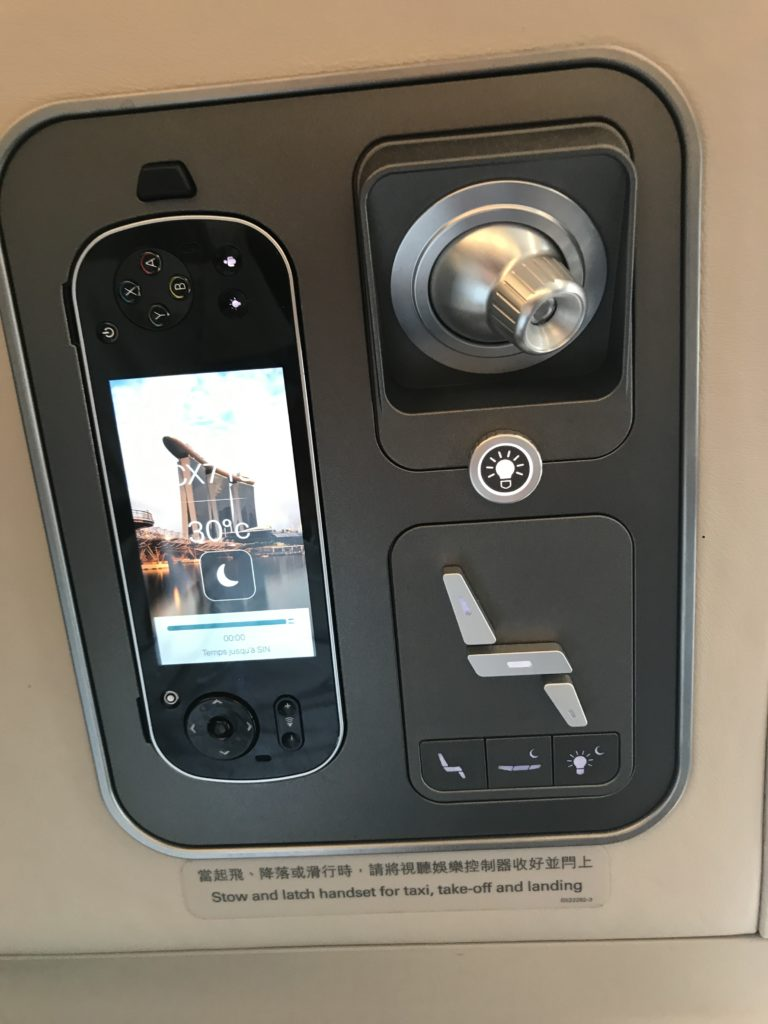 Cathay Pacific Business Class A350 Sitzsteuerung