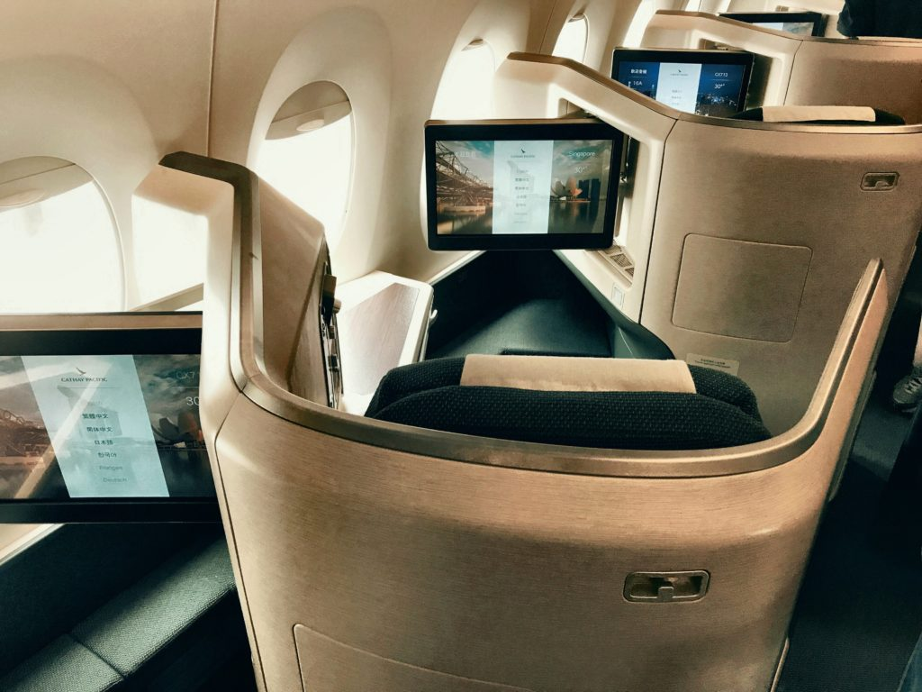 Cathay Pacific Business Class A350 Kabine