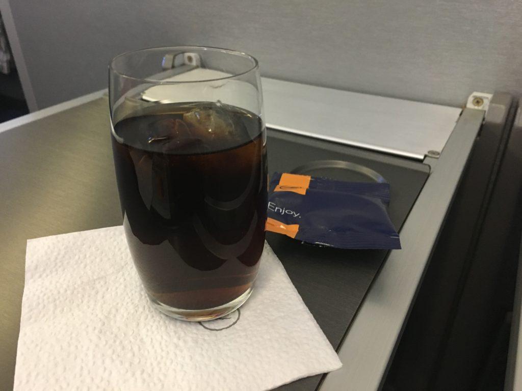Lufthansa Business Class Mittelstrecke Aperitif