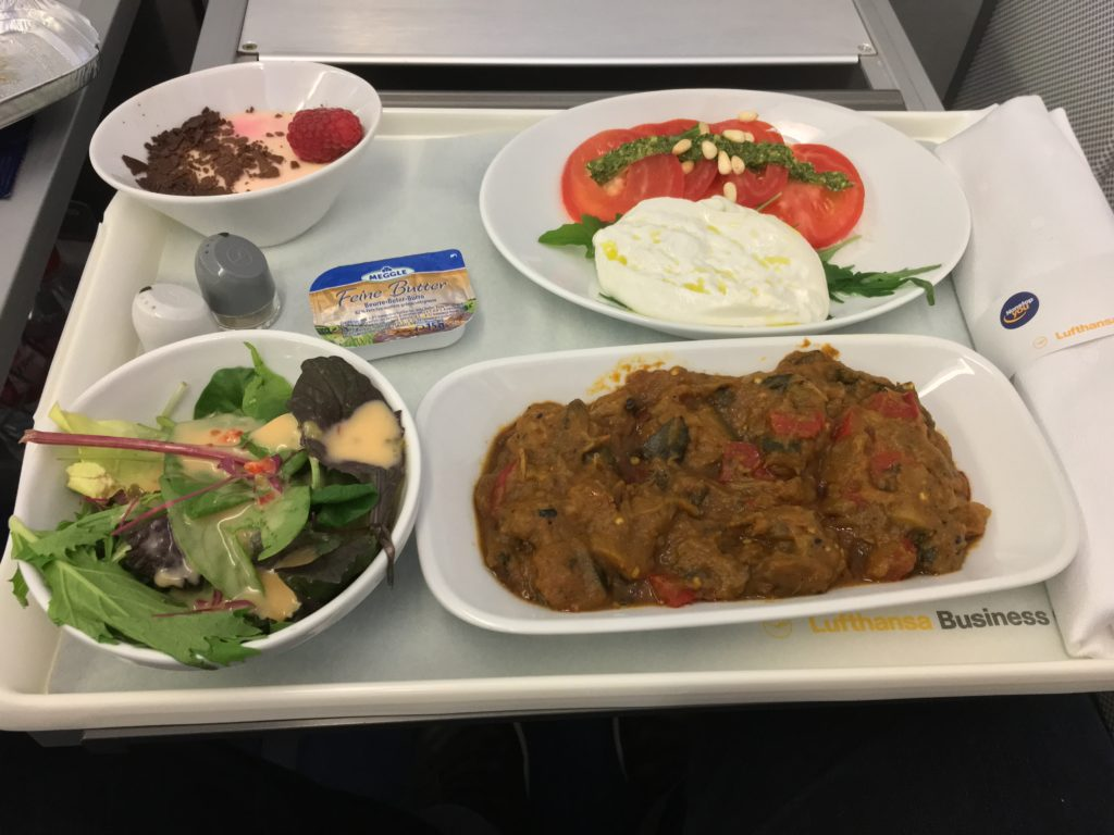 Lufthansa Business Class Mittelstrecke Catering
