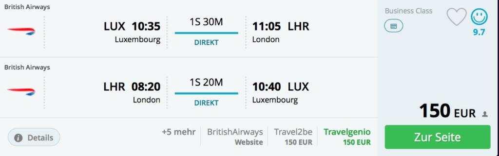 British Airways Tier Points innerhalb Europas sammeln