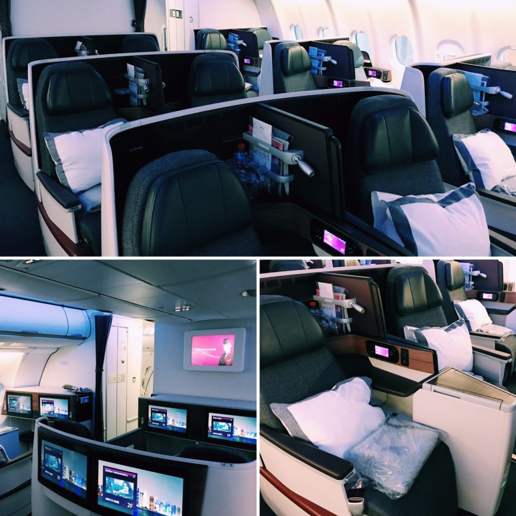 Qatar Airways Business Class Airbus A330 Kabine