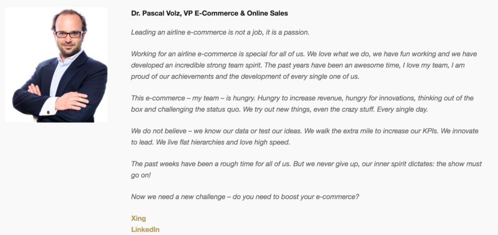 Das airberlin E-Commerce Team sucht einen neuen Job
