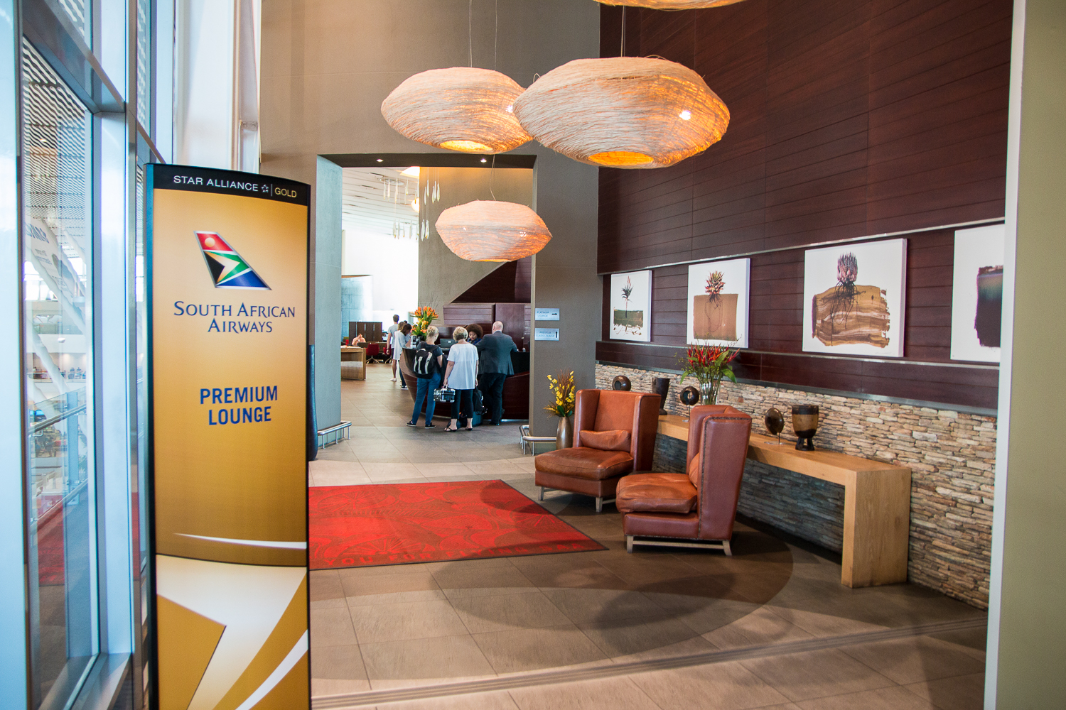 South African Airways Business Class Lounge Kapstadt