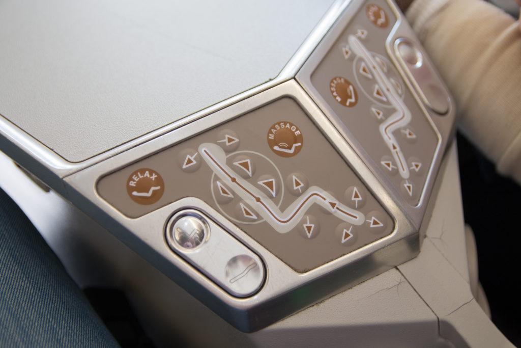 South African Airways Business Class Sitzverstellung