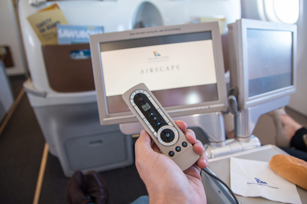 South African Airways Business Class Entertainment System