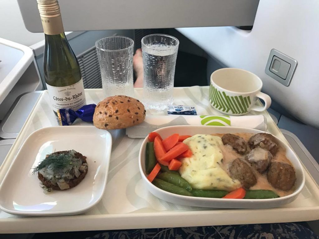 Finnair Business Class Europa Catering