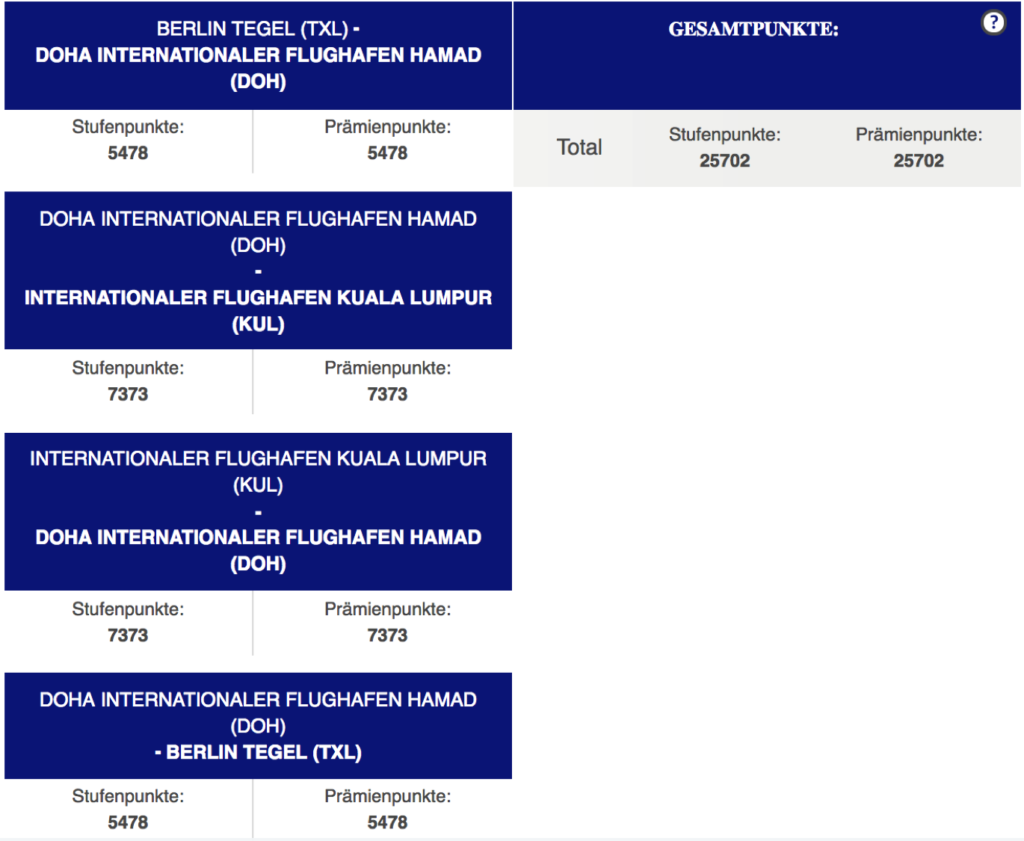 Finnair Plus Stufenpunkte mit Qatar Airways sammeln