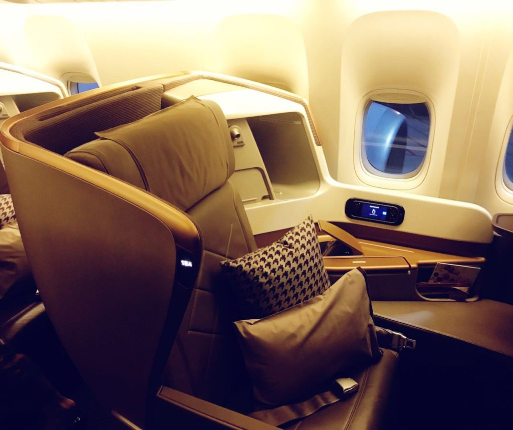 Singapore Airlines Business Class Sitz