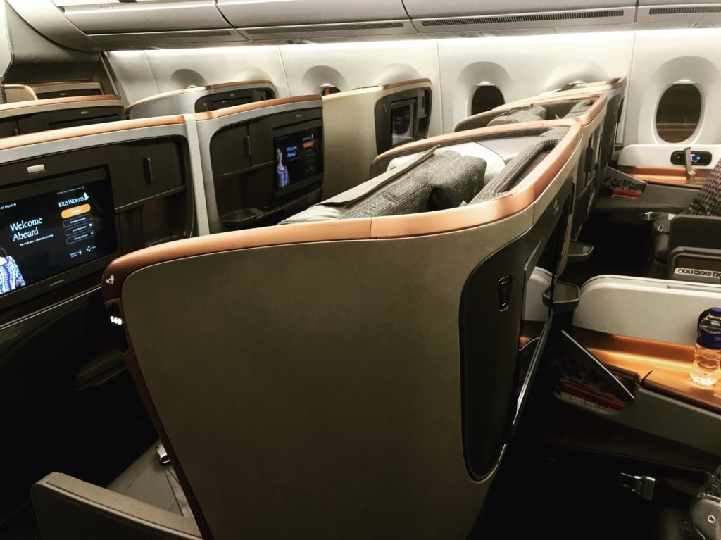 Singapore Airlines Business Class Kabine