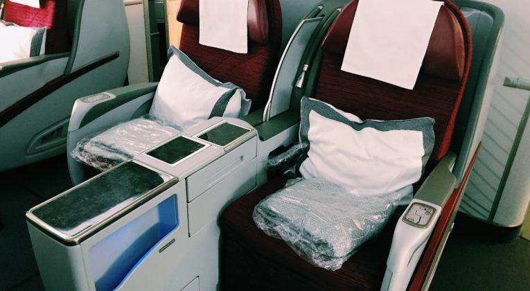 Qatar Airways Boeing 777 Business Class Sitz