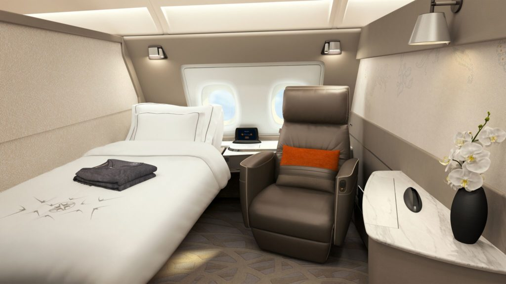Neue Singapore Airlines First Class Suiten