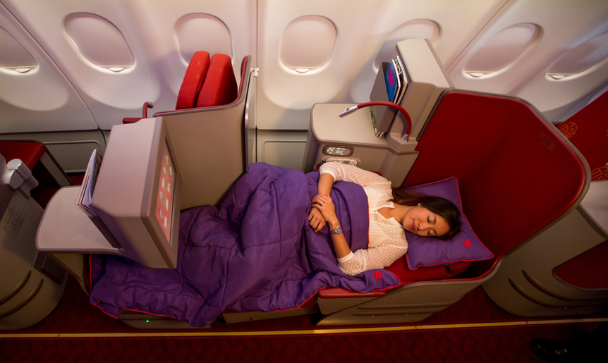 Business Class nach China