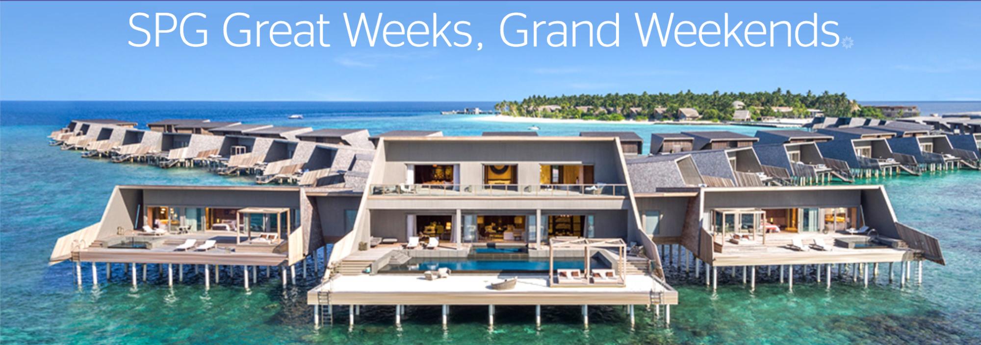 SPG Promotion Great Weeks Grand Weekends