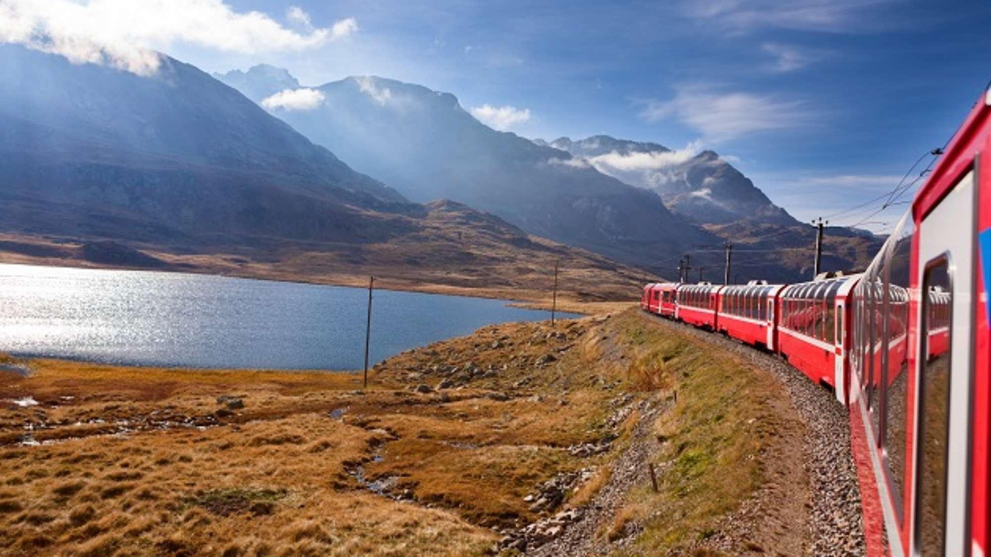 Eindrucksvolle Zugstrecken: Glacier Express