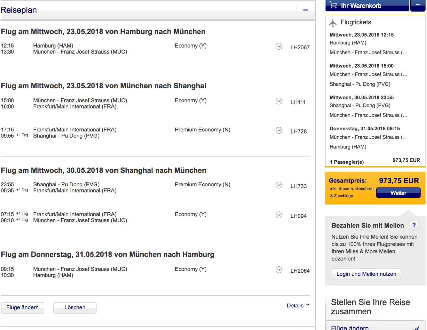 Lufthansa Premium Economy Class Sale