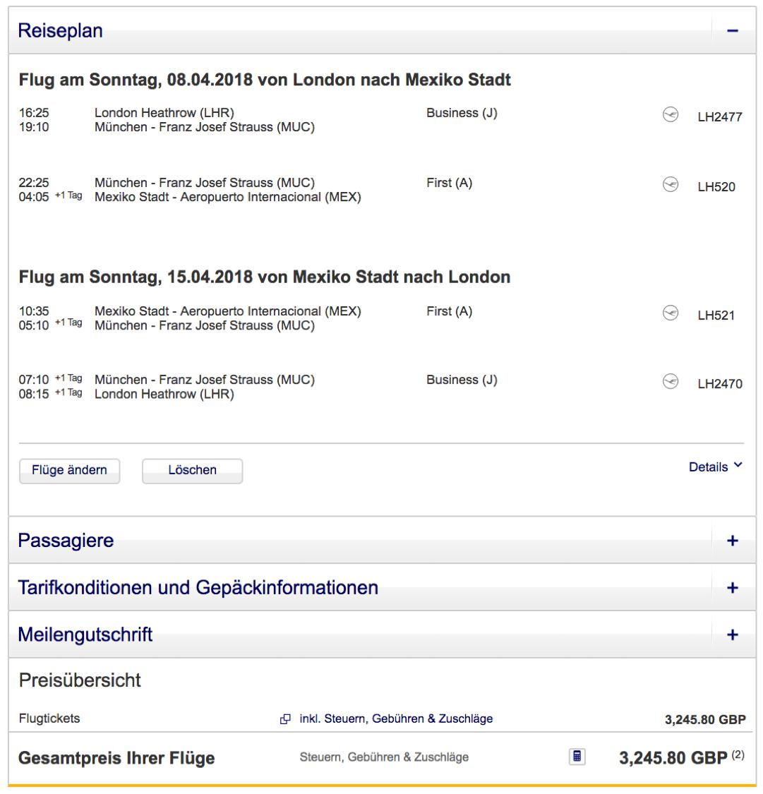 Günstig Lufthansa First Class fliegen