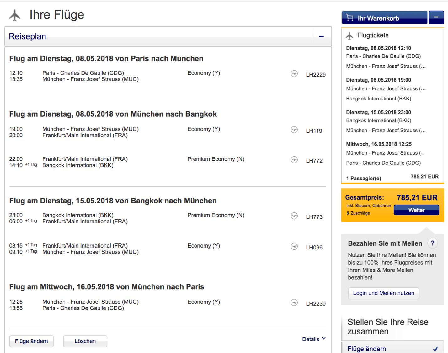 Günstige Lufthansa Premium Economy Class Angebote