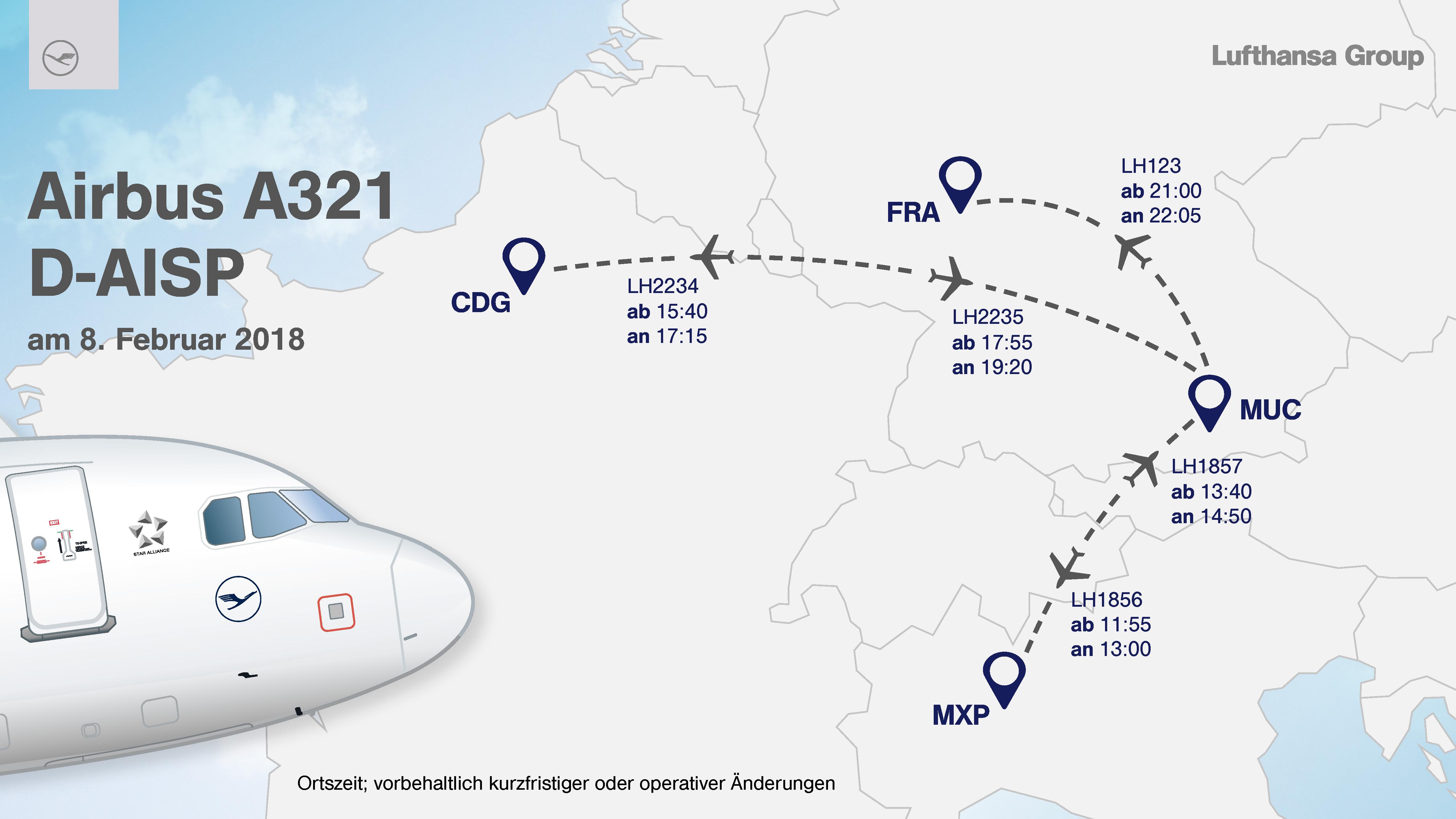 Neue Lufthansa Lackierung auf Europa-Tour