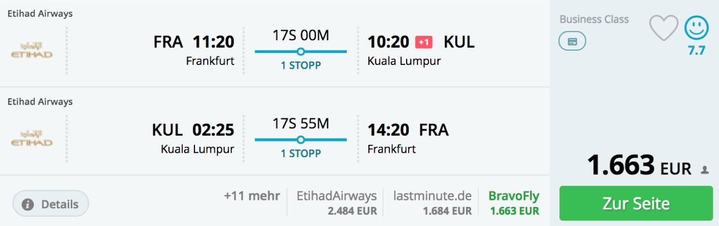 Etihad Airways Fernweh Angebote