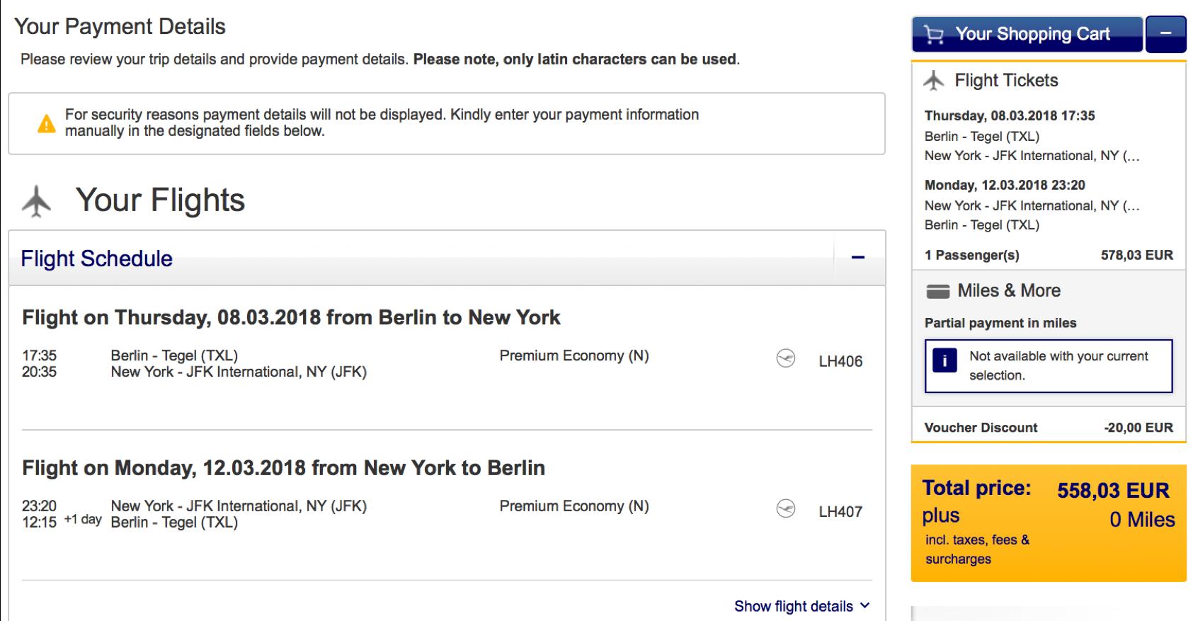Kurztrip nach New York mit Lufthansa